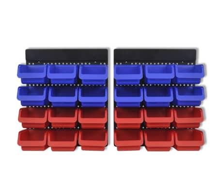 Werkstattboxen für die Wand Blau und Rot (2 Aufbewahrungseinheiten)[4/5]