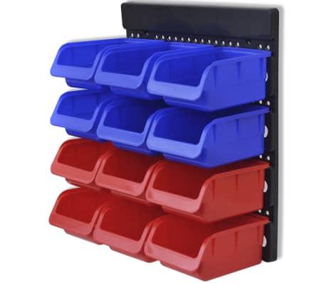 Werkstattboxen für die Wand Blau und Rot (2 Aufbewahrungseinheiten)[5/5]