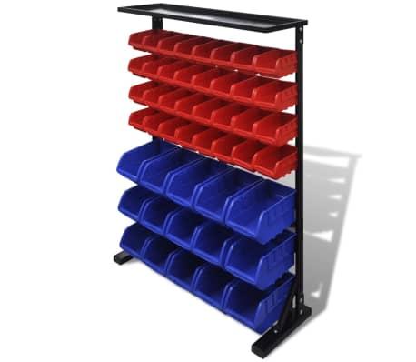 Blå & röd förvaringshylla för garageverktyg