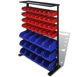 vidaXL Garage Tool Organizer Blue & Red