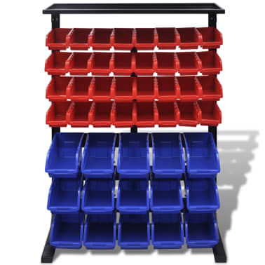 vidaXL Garage Tool Organizer Blue & Red[2/3]
