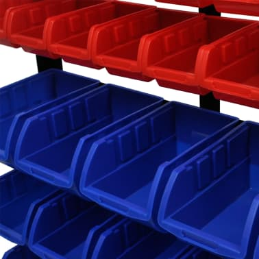 vidaXL Garage Tool Organizer Blue & Red[3/3]