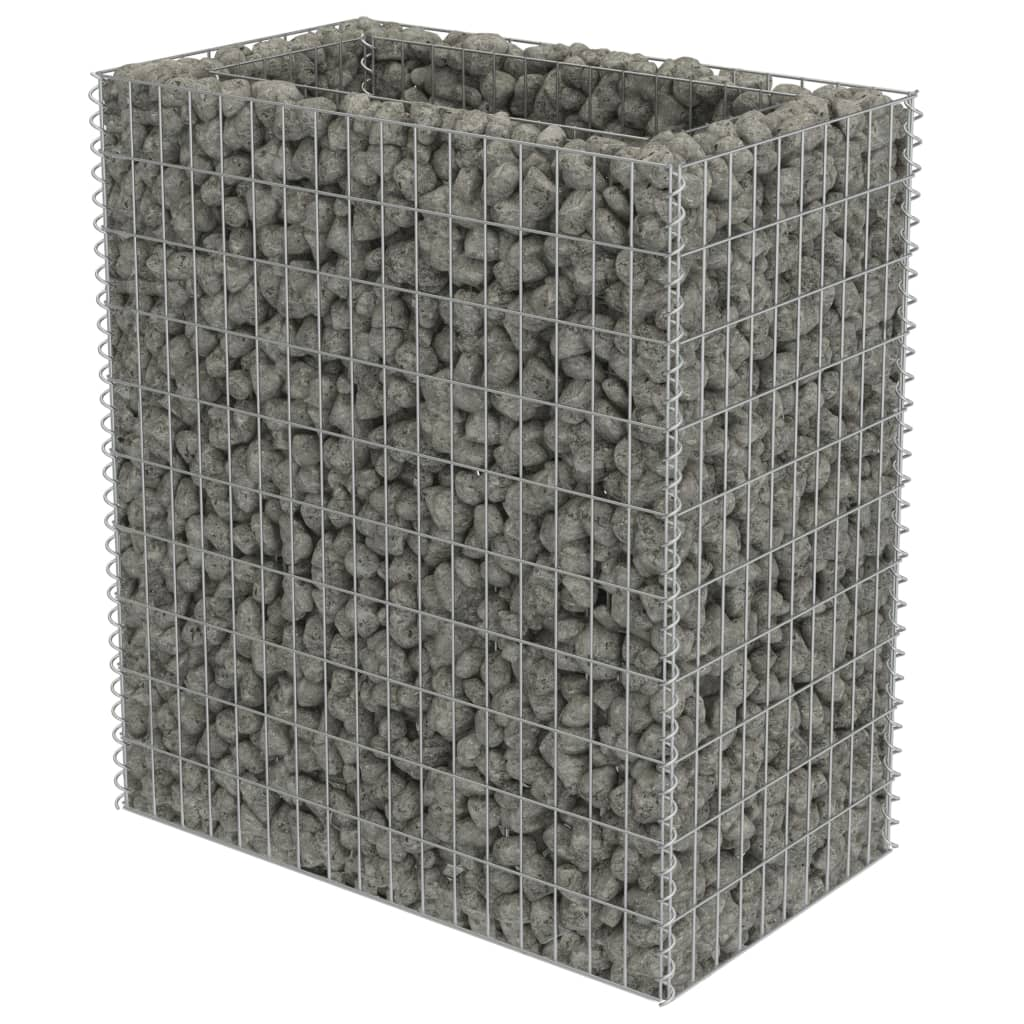 vidaXL Συρματοκιβώτιο Γλάστρα 90 x 50 x 100 εκ. Γαλβανισμένος Χάλυβας