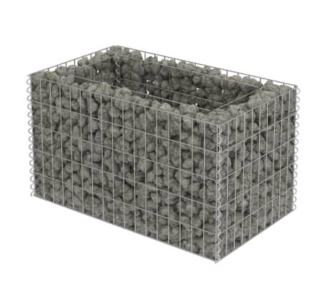 vidaXL Gabionen-Pflanzgefäß Verzinkter Stahl 90×50×50 cm[2/8]