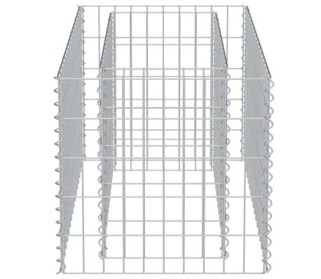 vidaXL Gabionen-Pflanzgefäß Verzinkter Stahl 90×50×50 cm[6/8]