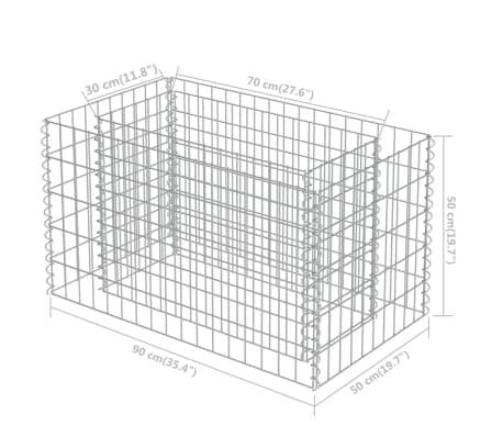 vidaXL Gabionen-Pflanzgefäß Verzinkter Stahl 90×50×50 cm[8/8]