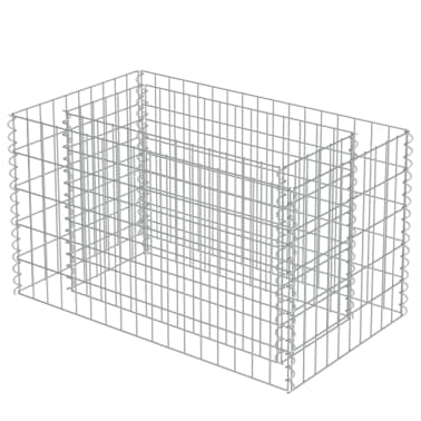 vidaXL Gabionen-Pflanzgefäß Verzinkter Stahl 90×50×50 cm[4/8]