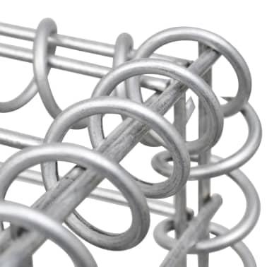 vidaXL Gabionen-Pflanzgefäß Verzinkter Stahl 90×50×50 cm[7/8]