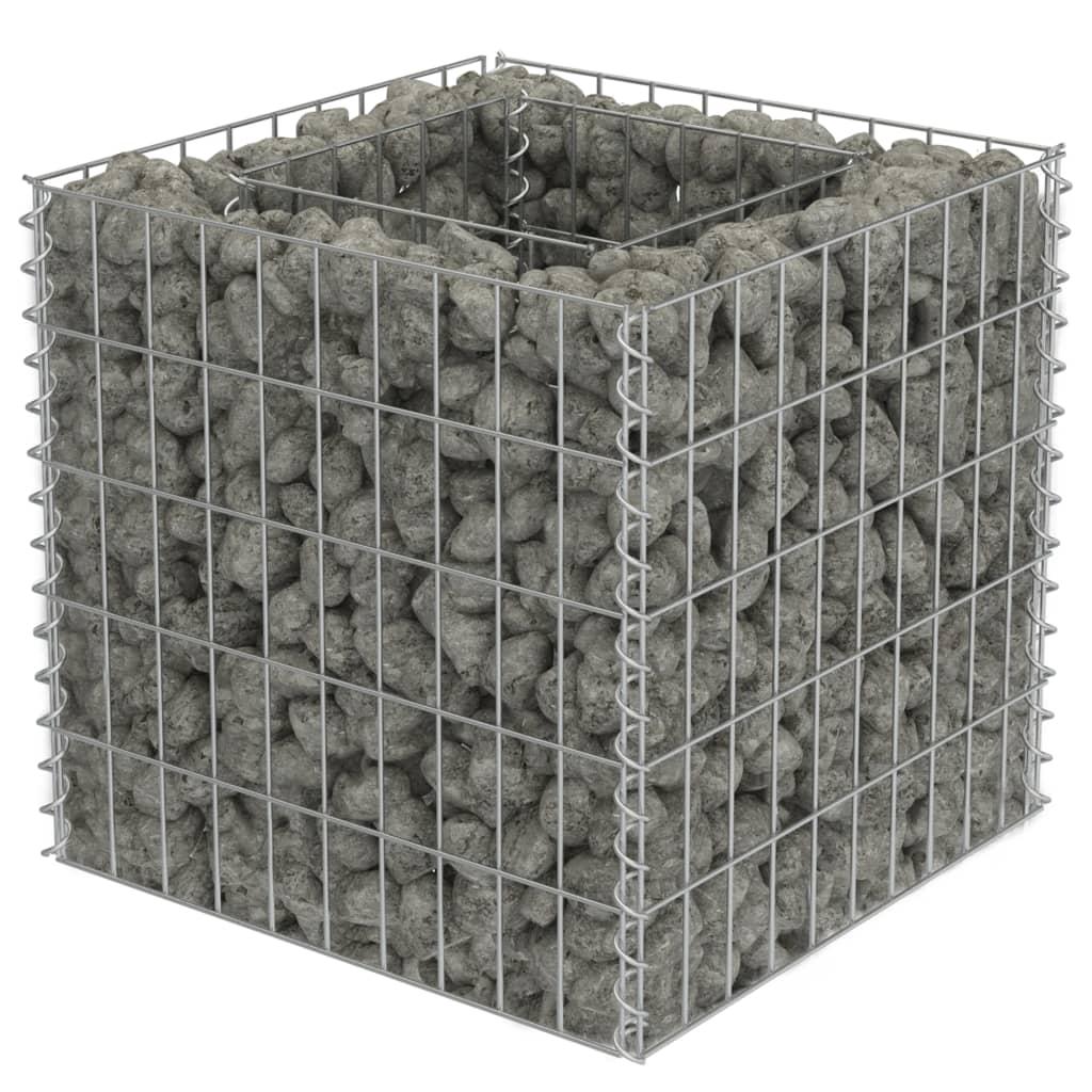 vidaXL Συρματοκιβώτιο Γλάστρα 50 x 50 x 50 εκ. Γαλβανισμένος Χάλυβας