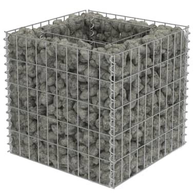 vidaXL Jardinera de gaviones de acero 50x50x50 cm[2/7]