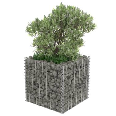 vidaXL Jardinera de gaviones de acero 50x50x50 cm[4/7]
