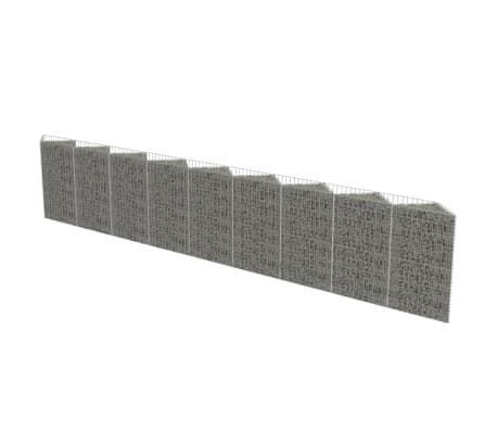 vidaXL Gabion Wall Galvanised Steel 630x30x100 cm