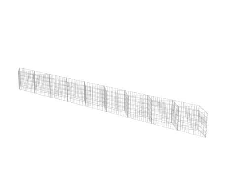 "vidaXL Gabion Wall Galvanized Steel 248""x11.8""x19.7""[3/7]"