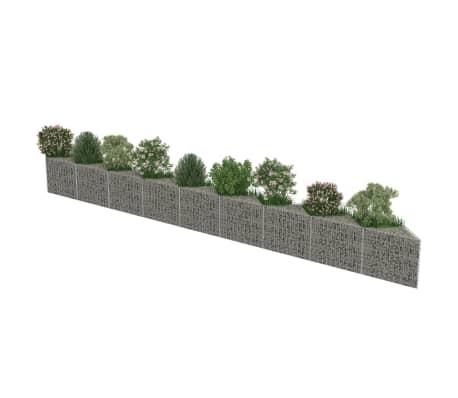 "vidaXL Gabion Wall Galvanized Steel 248""x11.8""x19.7""[4/7]"