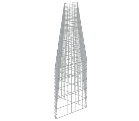 "vidaXL Gabion Wall Galvanized Steel 248""x11.8""x19.7""[6/7]"