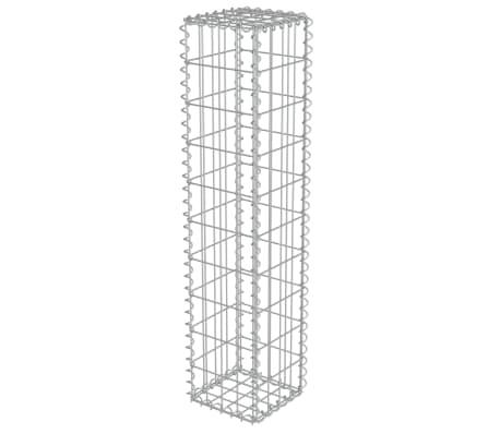 vidaXL Gabion Wall with Covers Galvanised Steel 20x20x100 cm