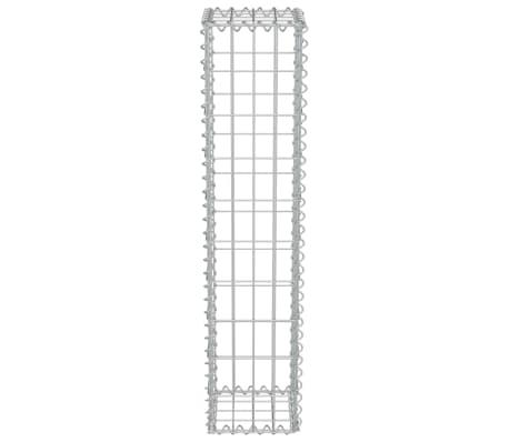 "vidaXL Gabion Wall with Covers Galvanized Steel 7.87""x7.87""x39.4""[4/5]"