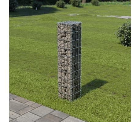 "vidaXL Gabion Wall with Covers Galvanized Steel 7.87""x7.87""x39.4""[1/5]"
