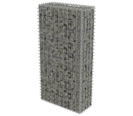 "vidaXL Gabion Wall with Covers Galvanized Steel 19.7""x7.78""x39.4"""