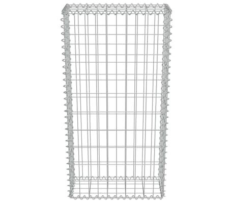 "vidaXL Gabion Wall with Covers Galvanized Steel 19.7""x7.78""x39.4""[4/6]"