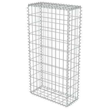 "vidaXL Gabion Wall with Covers Galvanized Steel 19.7""x7.78""x39.4""[3/6]"