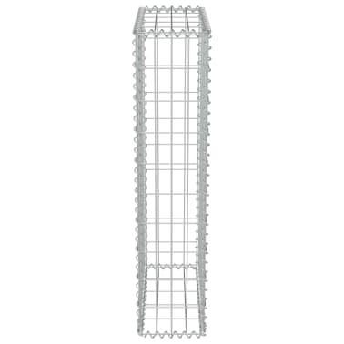 "vidaXL Gabion Wall with Covers Galvanized Steel 19.7""x7.78""x39.4""[5/6]"