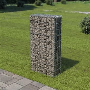 "vidaXL Gabion Wall with Covers Galvanized Steel 19.7""x7.78""x39.4""[1/6]"