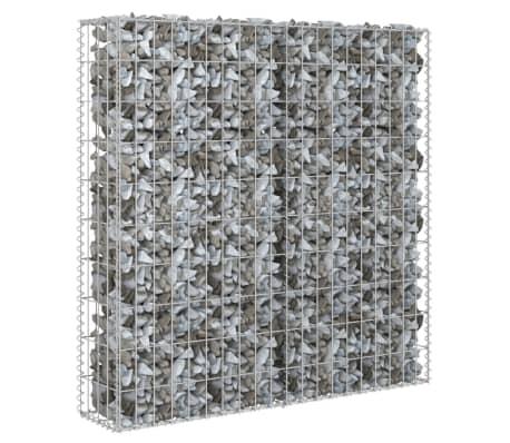 "vidaXL Gabion Wall with Covers Galvanized Steel 31.5""x7.87""x39.4"""