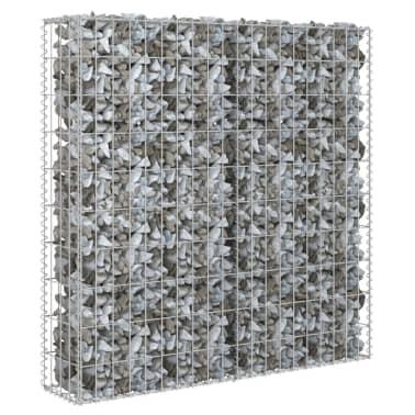 "vidaXL Gabion Wall with Covers Galvanized Steel 31.5""x7.87""x39.4""[2/6]"