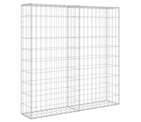 "vidaXL Gabion Wall with Covers Galvanized Steel 31.5""x7.87""x39.4""[3/6]"