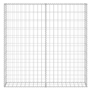 "vidaXL Gabion Wall with Covers Galvanized Steel 31.5""x7.87""x39.4""[4/6]"
