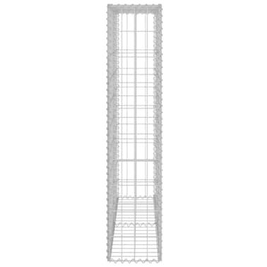 "vidaXL Gabion Wall with Covers Galvanized Steel 31.5""x7.87""x39.4""[5/6]"