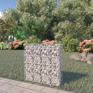 "vidaXL Gabion Wall with Covers Galvanized Steel 31.5""x7.87""x39.4""[1/6]"