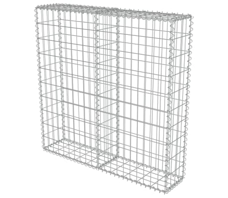 "vidaXL Gabion Wall with Covers Galvanized Steel 39.4""x7.87""x39.4""[3/6]"