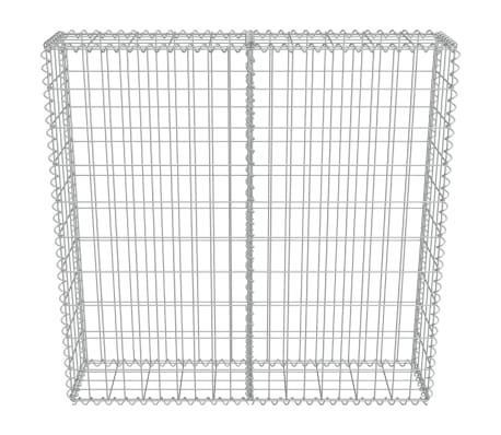 "vidaXL Gabion Wall with Covers Galvanized Steel 39.4""x7.87""x39.4""[4/6]"