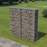 vidaXL horganyzott acél gabion fal felső zárással 100 x 20 x 100 cm
