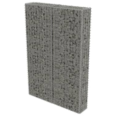 "vidaXL Gabion Wall with Covers Galvanized Steel 39.4""x7.87""x59""[2/6]"