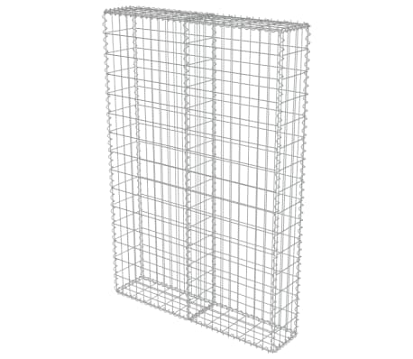 "vidaXL Gabion Wall with Covers Galvanized Steel 39.4""x7.87""x59""[3/6]"