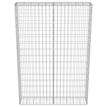 "vidaXL Gabion Wall with Covers Galvanized Steel 39.4""x7.87""x59""[4/6]"