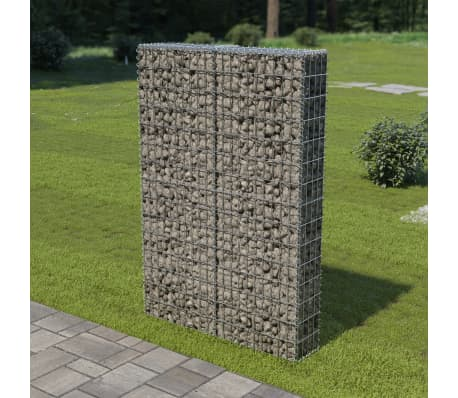 "vidaXL Gabion Wall with Covers Galvanized Steel 39.4""x7.87""x59""[1/6]"
