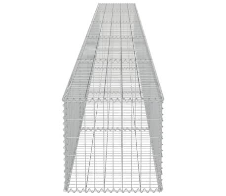 "vidaXL Gabion Wall with Covers Galvanized Steel 236""x19.7""x19.7""[5/6]"