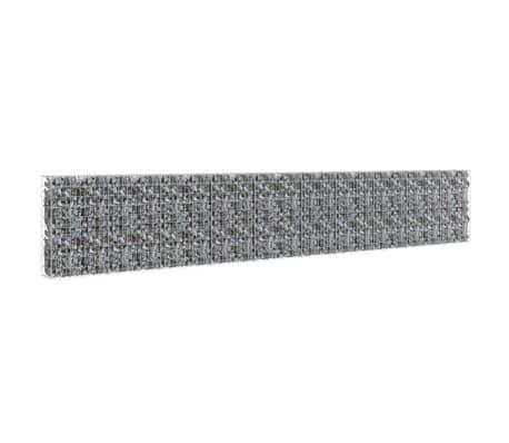 "vidaXL Gabion Wall with Covers Galvanized Steel 236""x11.8""x39.4""[2/6]"