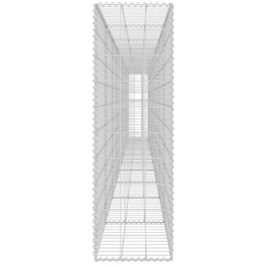 "vidaXL Gabion Wall with Covers Galvanized Steel 236""x11.8""x39.4""[5/6]"