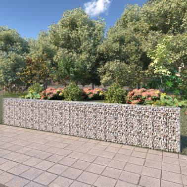 "vidaXL Gabion Wall with Covers Galvanized Steel 236""x11.8""x39.4""[1/6]"