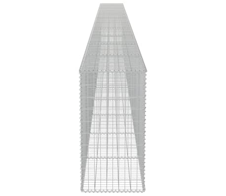 "vidaXL Gabion Wall with Covers Galvanized Steel 354""x19.7""x39.4""[5/6]"