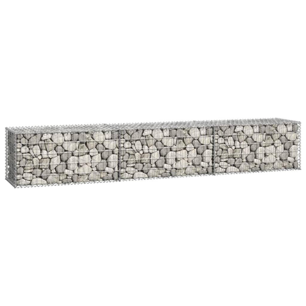 vidaXL Schanskorfmuur met deksels 300x50x50 cm gegalvaniseerd staal