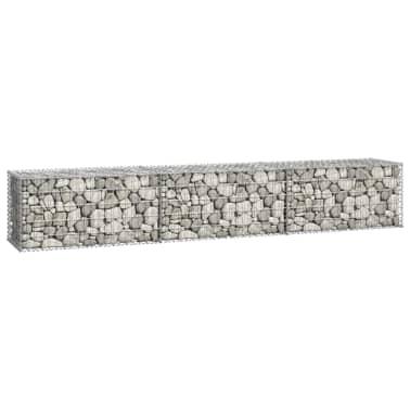 "vidaXL Gabion Wall with Covers Galvanized Steel 118""x19.7""x19.7""[3/6]"