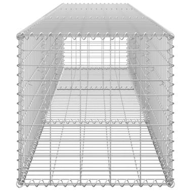 "vidaXL Gabion Wall with Covers Galvanized Steel 118""x19.7""x19.7""[5/6]"