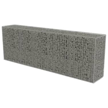 "vidaXL Gabion Wall with Covers Galvanized Steel 118""x19.7""x39.4""[2/5]"