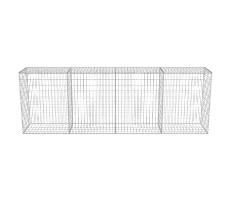 "vidaXL Gabion Wall with Covers Galvanized Steel 118""x19.7""x39.4""[4/5]"